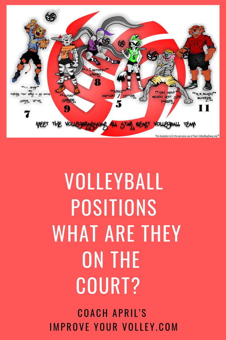Volleyball Positions What Are The Six Volleyball Roles On The Court Volleyball Positions Volleyball Positivity