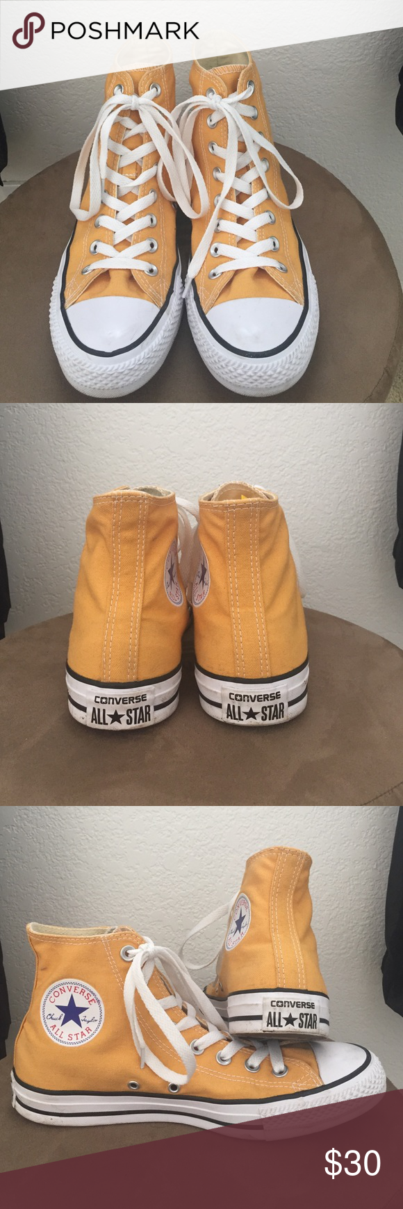 d651da479b5600 CONVERSE   Chuck Taylor All Star Adorable CT AS Converse! Cute  yellow mustard color to spice up an outfit! Worn twice