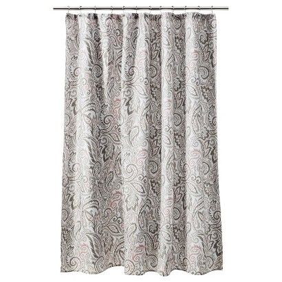 peach and gray shower curtain. Threshold  Paisley Shower Curtain Gray Coral would look good with a coral peach colored wall for something different Curtains
