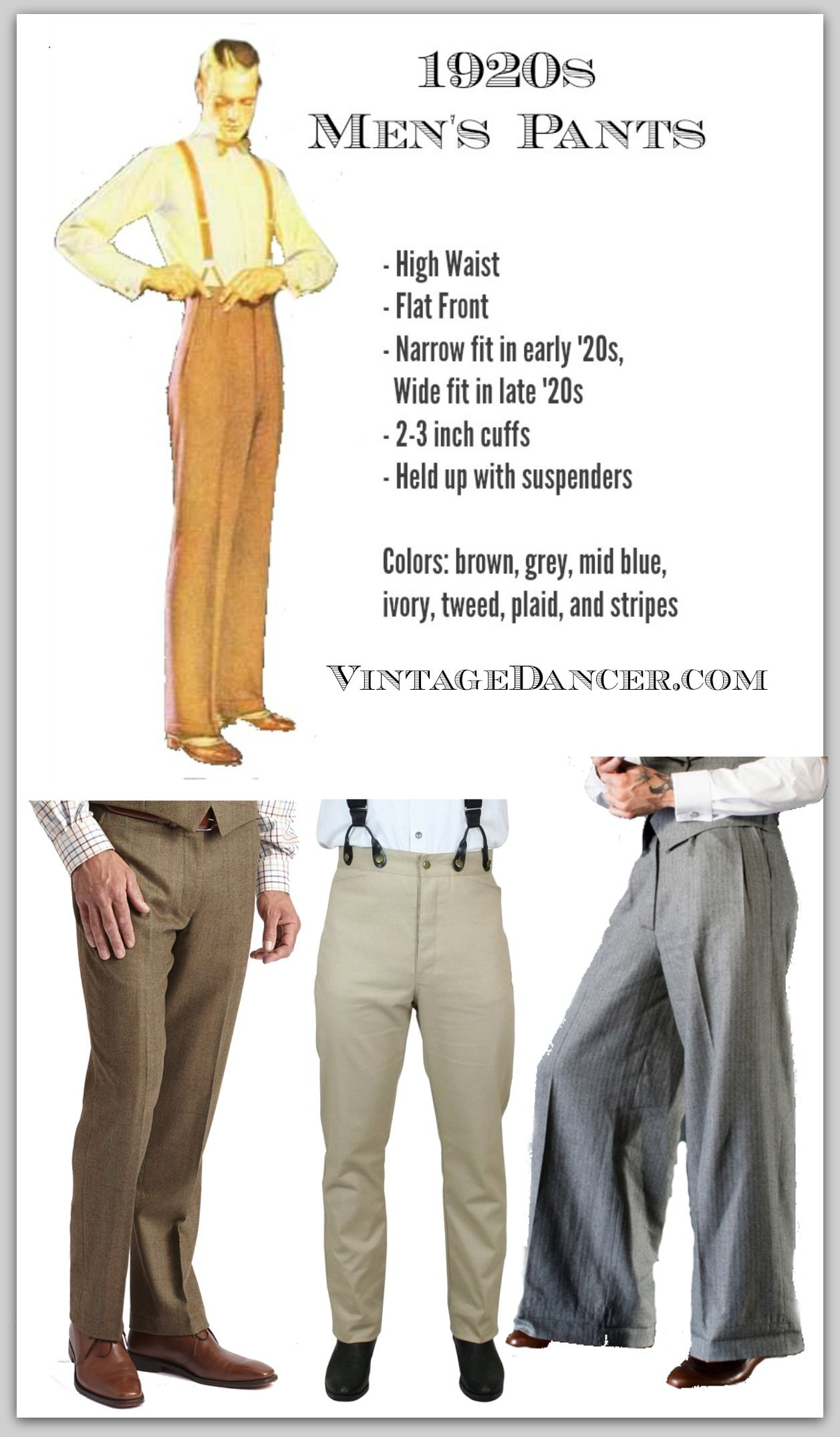 1920s Style Men's Pants, Trousers, Plus Four Knickers