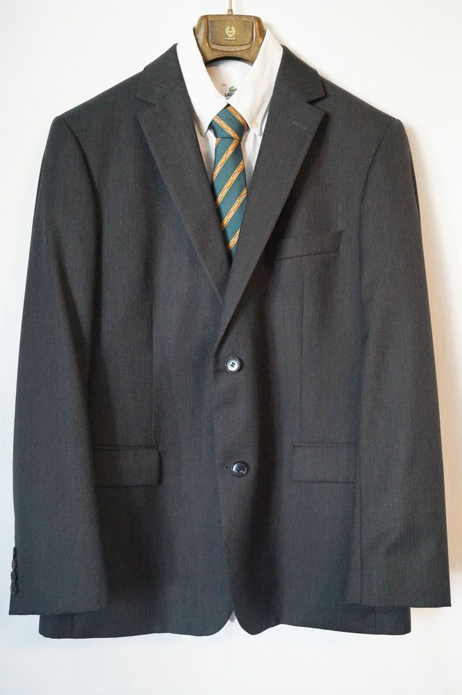 Mens Boss Hugo Boss Bertolucci Movie Jacket Suit Black Super 120 Size 54 |  eBay