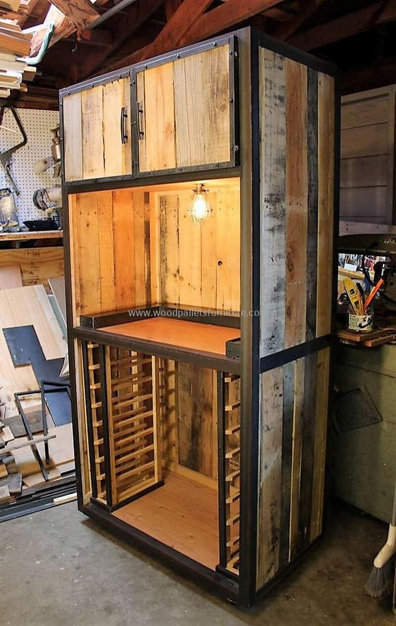 unique ideas for old pallet wood reusing pallet wardrobe on extraordinary ideas for old used dumped pallets wood id=20338