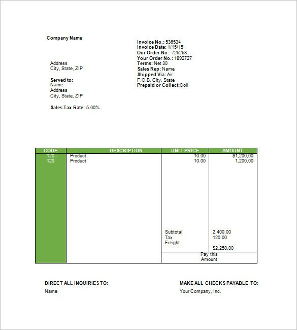 Travel Agency Invoice Form In 2020