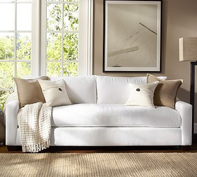 York Slope Arm Upholstered Grand Sofa Down Blend Wrapped
