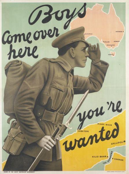 Australian Enlistment Poster World War Ww1 Posters Ww1 Propaganda Posters