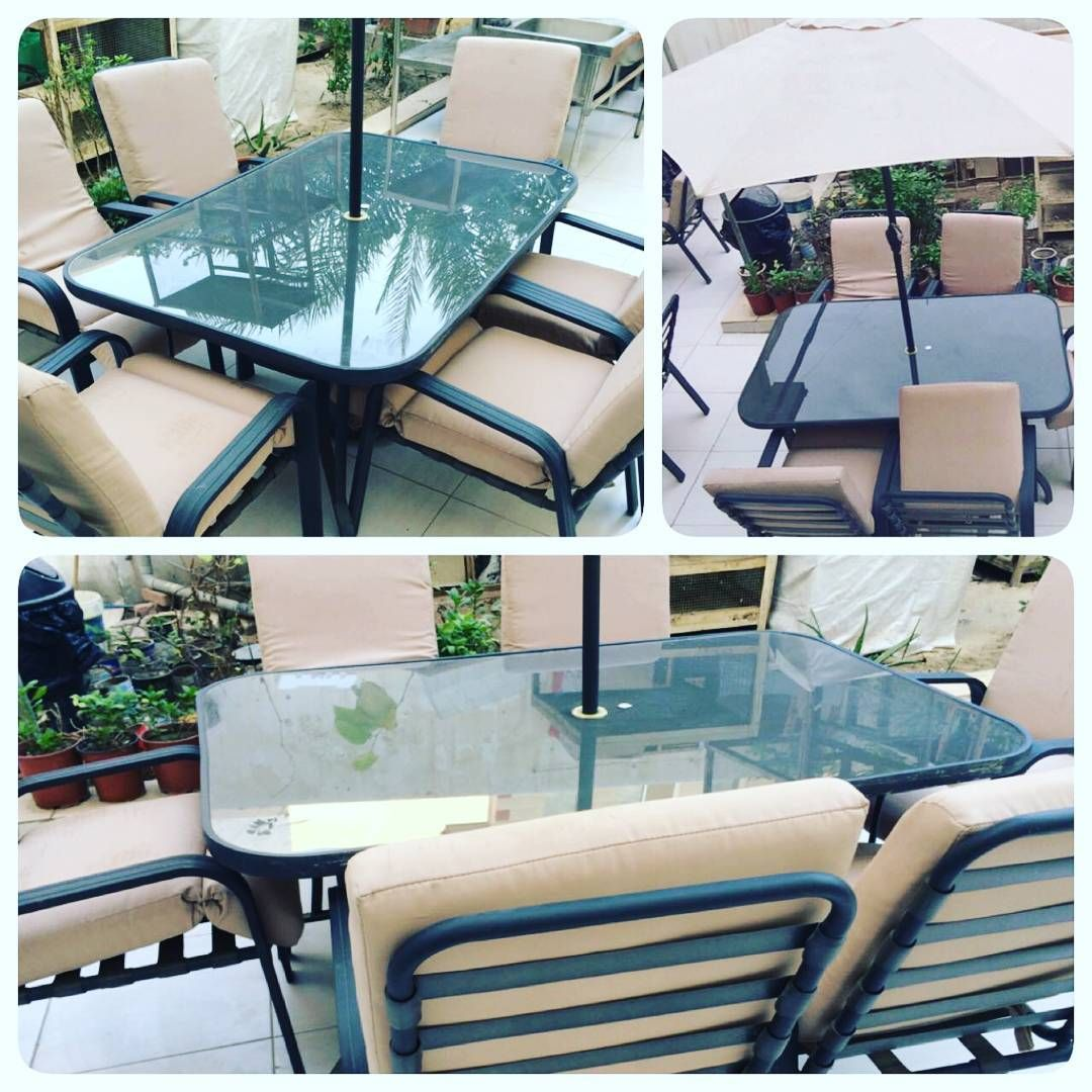 For Sale Garden Table Green Color With 6 Chair In Good Condation Price 125 Bd للبيع طاولة حديقة لو Outdoor Furniture Sets Outdoor Decor Outdoor Furniture