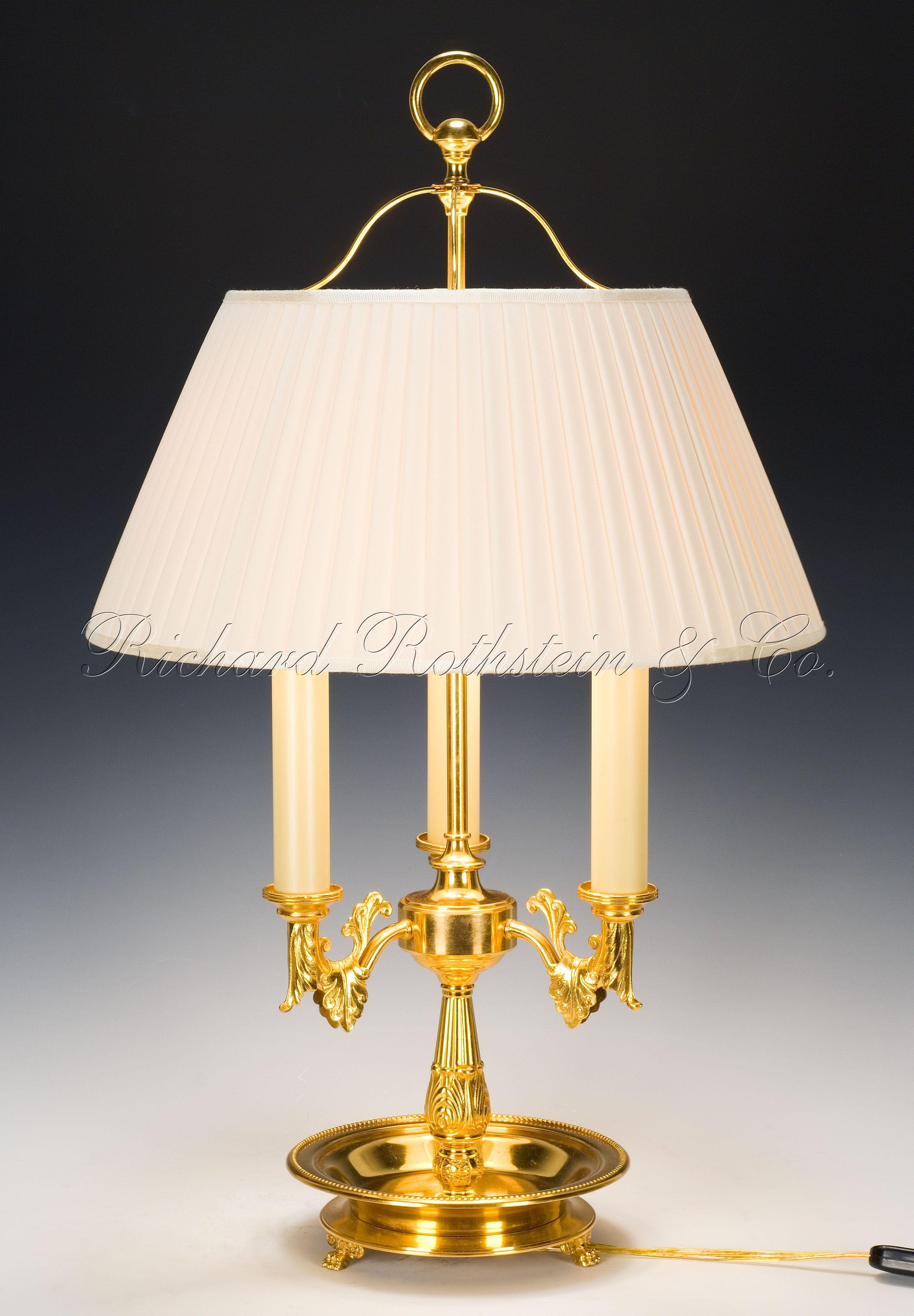 Bouillotte Lamp, Handmade Federal Bouillotte Table Lamp ...