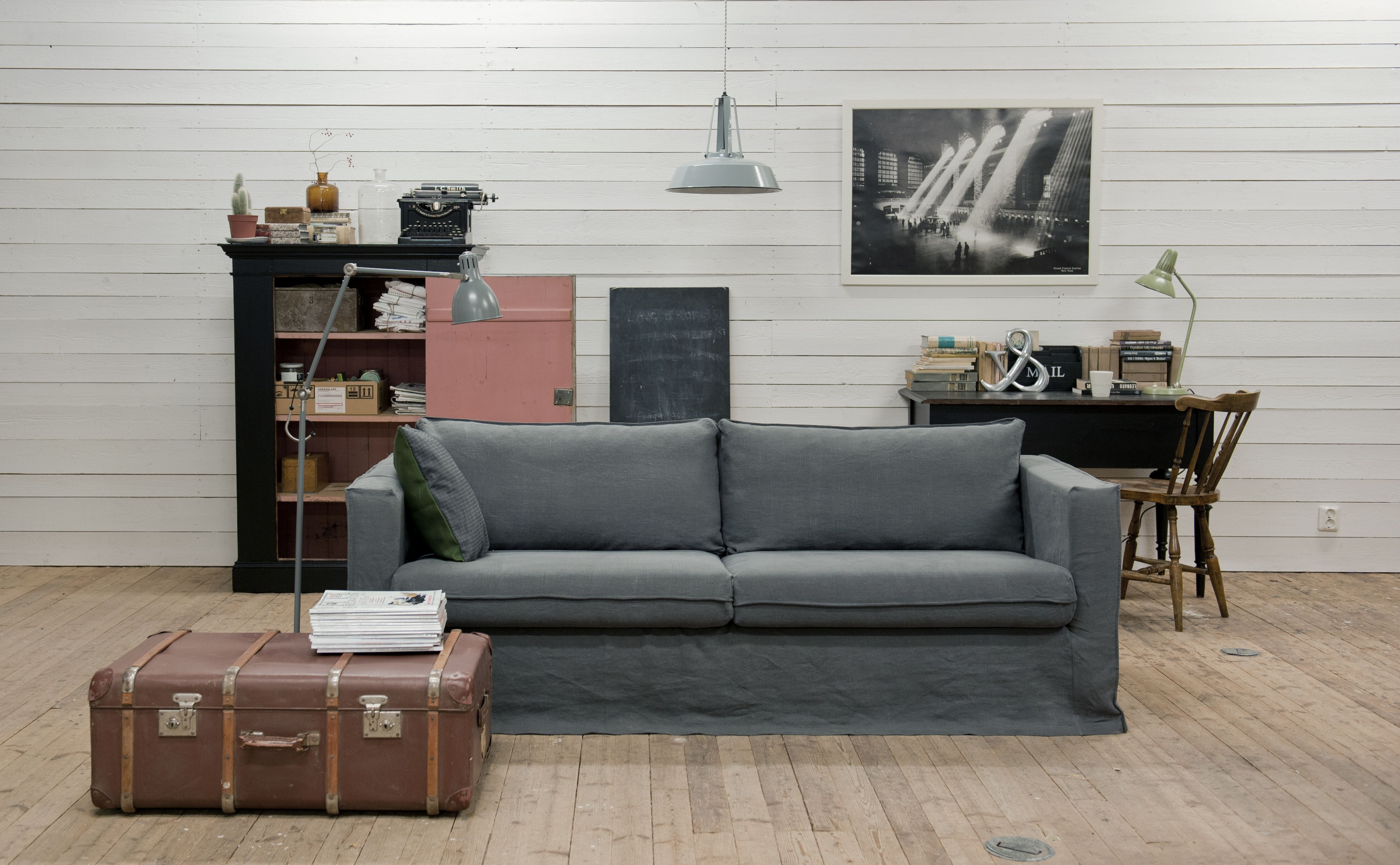 Ikea Karlstad Leren Bank.Karlstad 3 Seater Sofa Cover Loose Fit Sofa Covers 3 Seater