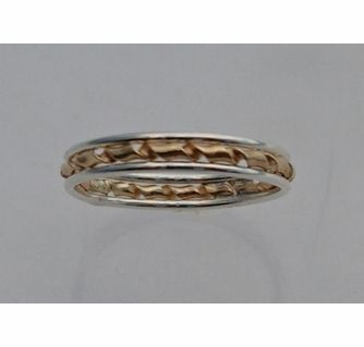 14K Gold Filled and Sterling Silver Twist Thumb Ring