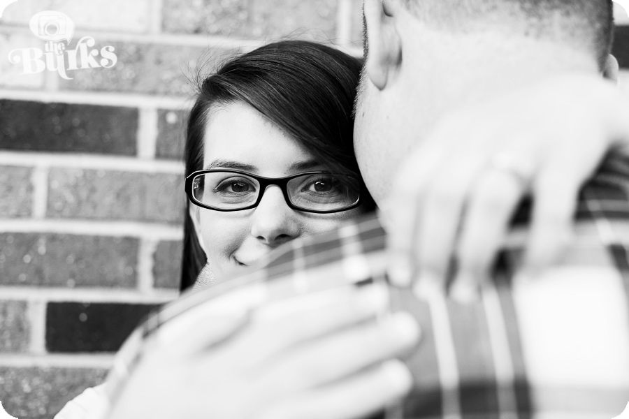 A picture from Kerri and Dustin's adorable e-session in downtown Matthews! Go check out the rest!