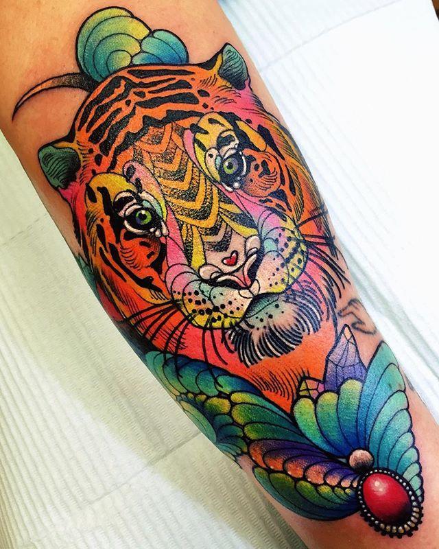 Tiger Tattoo By Katie Shocrylas Tattoos Tatuajes Tatuajes De