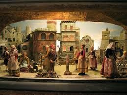 Genova storica. Particolare del presepe del Maragliano