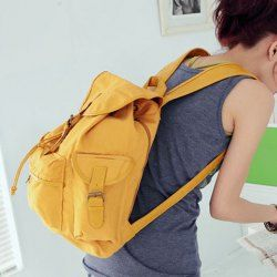 f5d3a813b27d Wholesale Street Style Stylish Buckle Embellished Multi Way Black Canvas  Backpack For Women (BLACK)