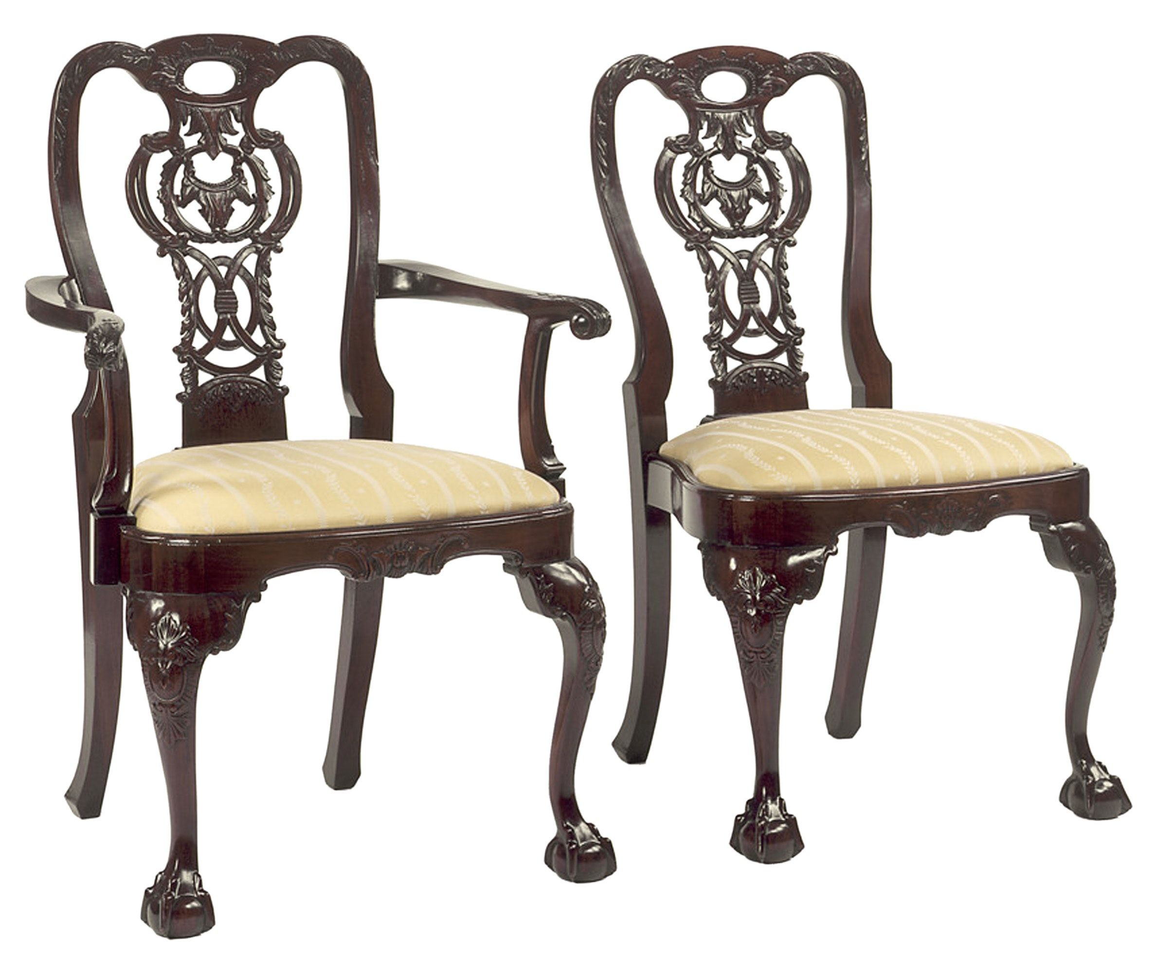 Buy Chippendale Style Rococco Back Design Chairs By The Federalist    Made To Order