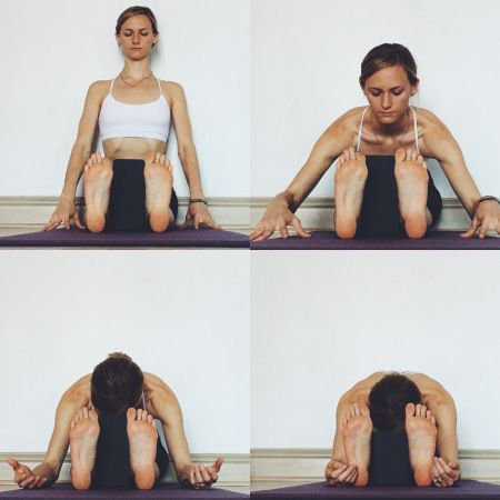 yin yoga  meridians  forward fold seated  yin yoga