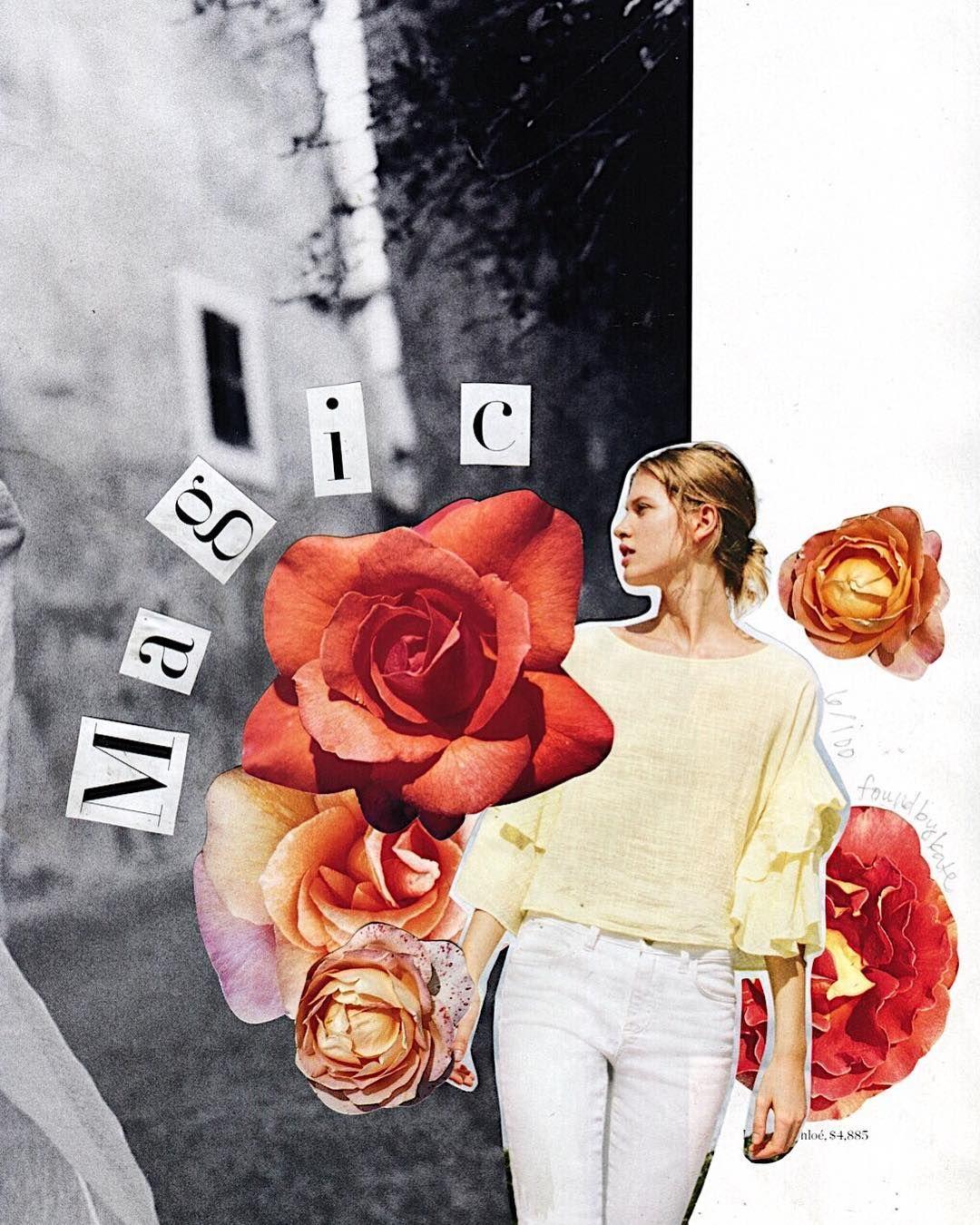 flower collage | kate rabbit #collageboard