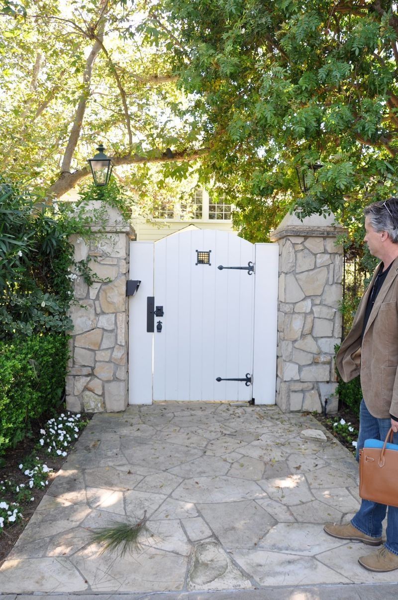 Stone Wall With Gate Love Backyard And Gardening