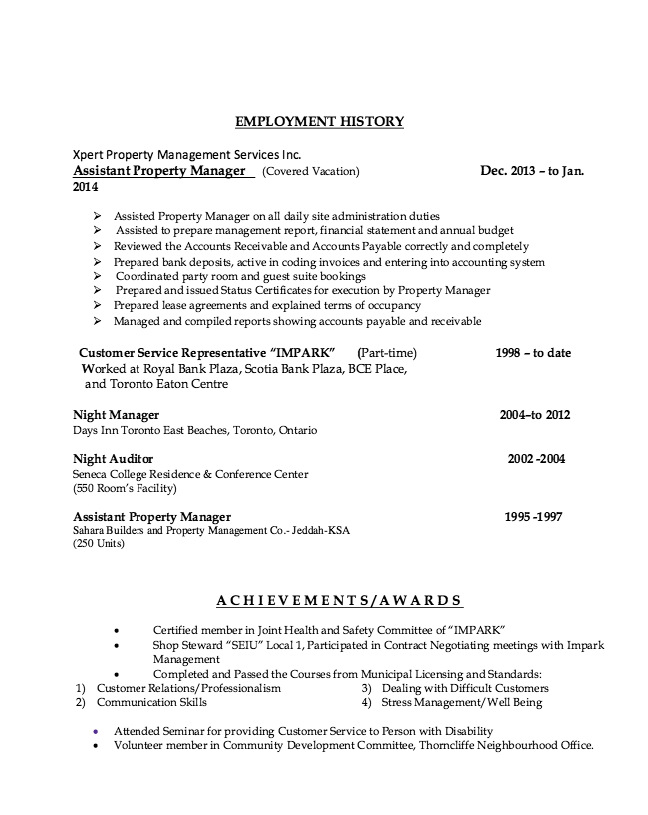 Property Management Resume Examples Assistant Property Manager Resume Example  Httpresumesdesign .