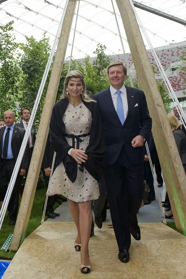 King Willem-Alexander and Queen Maxima on the second day of their visit to Poland.
