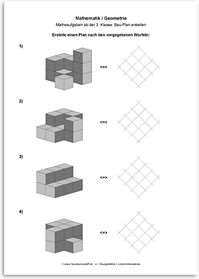 Download => Geometrie => Bau-Plan erstellen (2) | Hahmottaminen ...