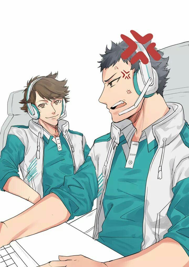 Oikawa #iwaizumi #gamers.   Haikyuu anime, Iwaoi, Haikyuu fanart