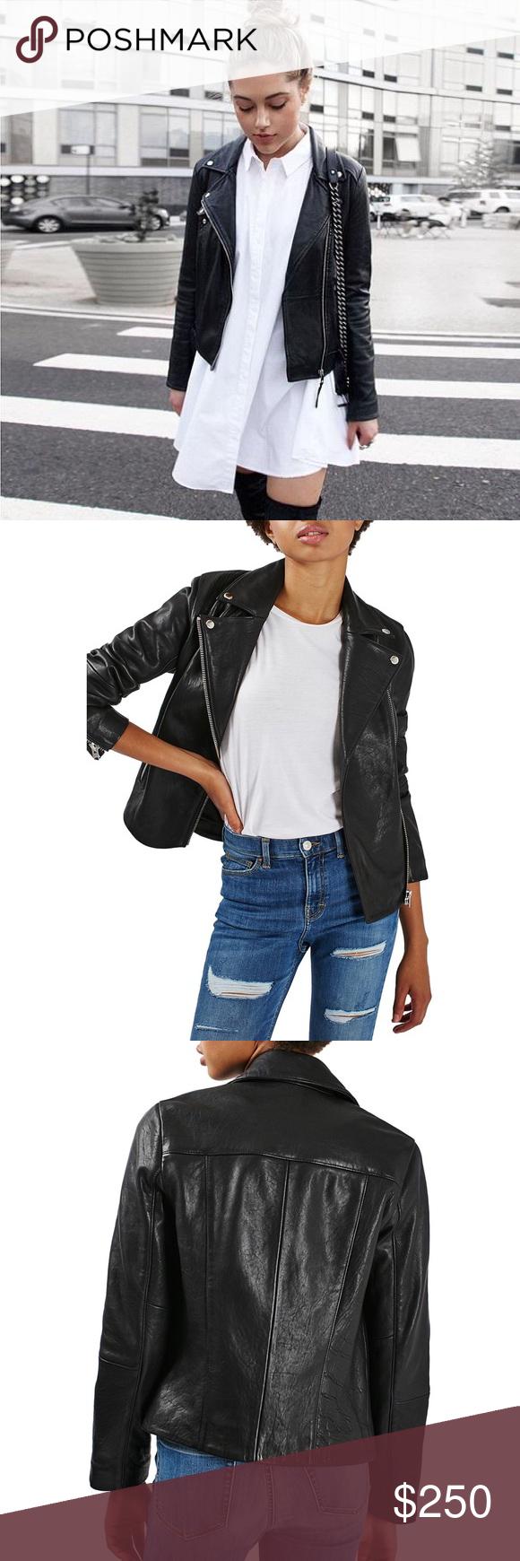 Leather Biker Jacket NWT Fashion, jacket