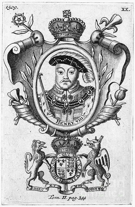 HENRY VIII (1491-1547). King of England, 1509-1547. Copper engraving, English, 18th century.