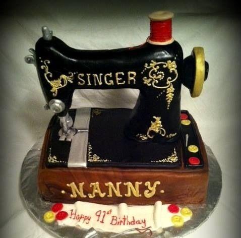 Singer Sewing Machine Cake | My Cakes | Pinterest | Sewing Sewing Machines And Singers