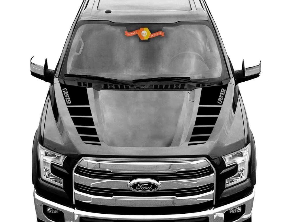Ford F 150 Raptor Off Road Hood Graphics 2015 2019 Ford Racing Stripe Decals Ford F150 Racing Stripes Ford Racing