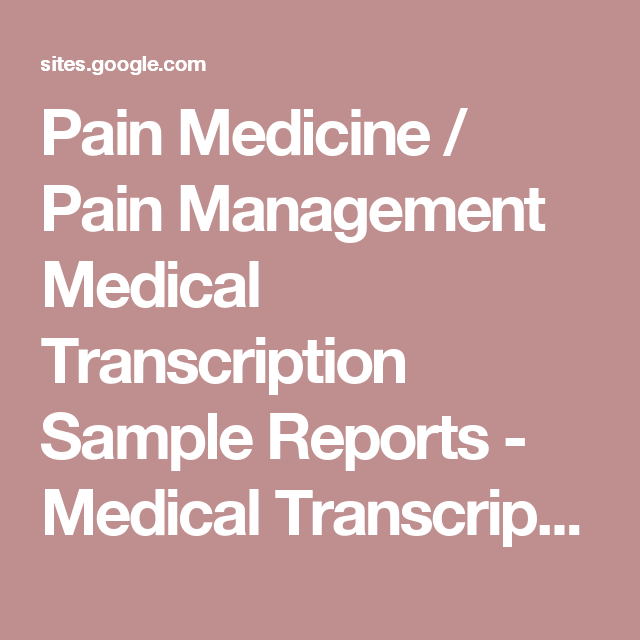 medical transcription sample