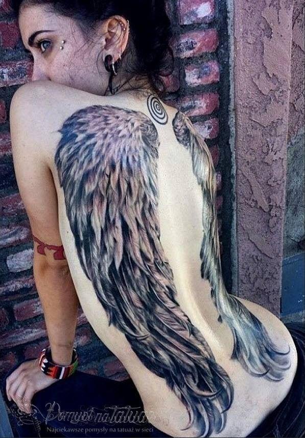Tatuaż Skrzydeł Na Całe Plecy Dla Dziewczyny Tatuaż