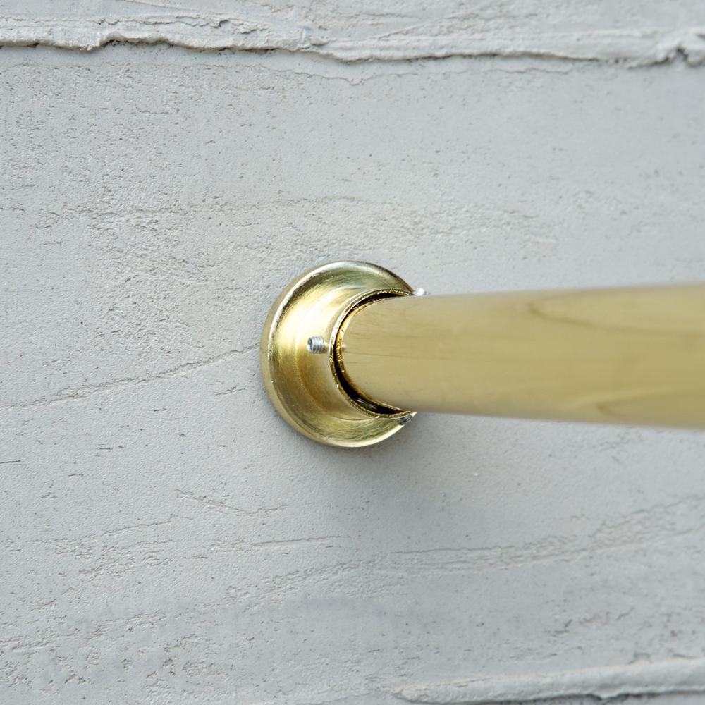 80 in tension curtain rod in gold trod