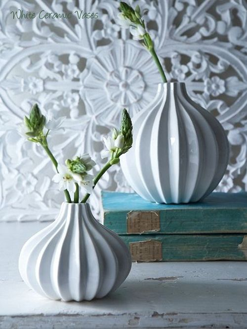 Nordic House White Ceramic Vases Next On My List D For The