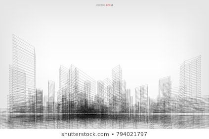 Perspective 3d Render Of Building Wireframe Vector Wireframe City Background Of Building Architecture Background Building Images Diagram Architecture