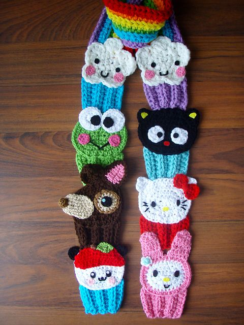 Adorable!!!  http://www.ravelry.com/patterns/library/hello-kitty--sanrio-friends-cupcake-scarf