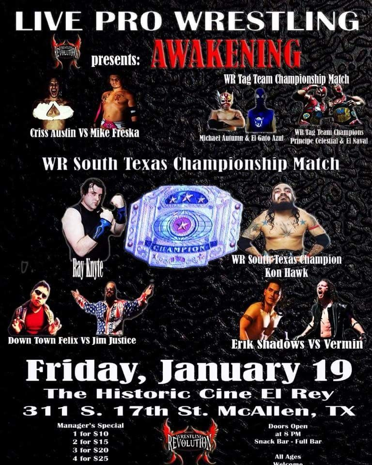 Pin by Beau Jeremy on Texas Indie Wrestling Fliers Pro