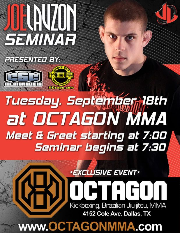 Joe Lauzon MMA Seminar Flyer Design #UFC MMA Graphic Design - seminar flyer