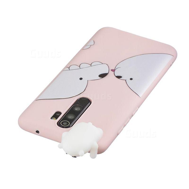 Big White Bear Soft 3d Climbing Doll Soft Case For Mi Xiaomi Redmi Note 8 Pro Xiaomi Redmi Note 8 Pro Cases Guuds White Bear Case Xiaomi