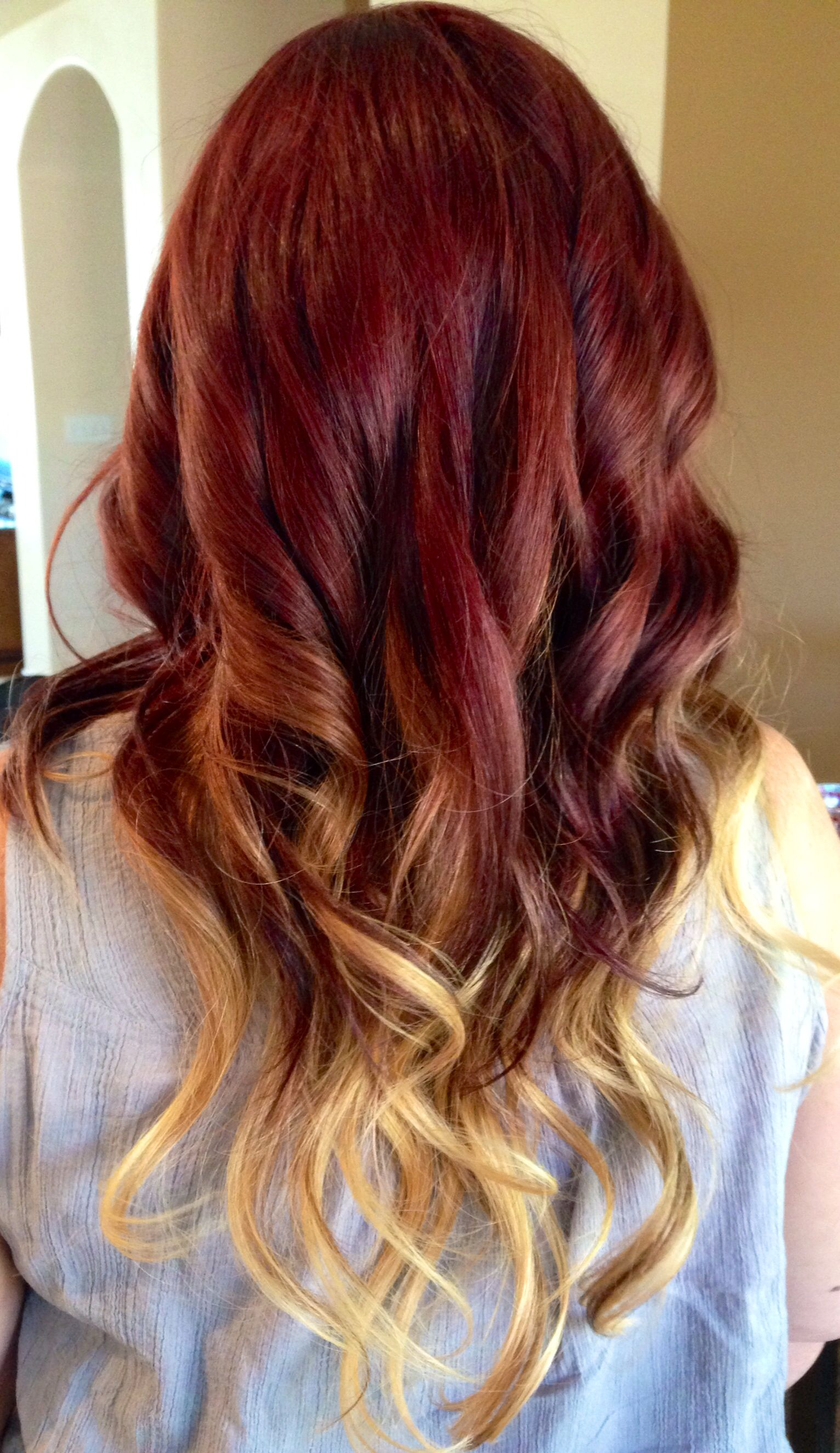 Ombre Reds And Blonde Fireandice Red Blonde Ombre Hair Blonde Hair Tips Short Ombre Hair