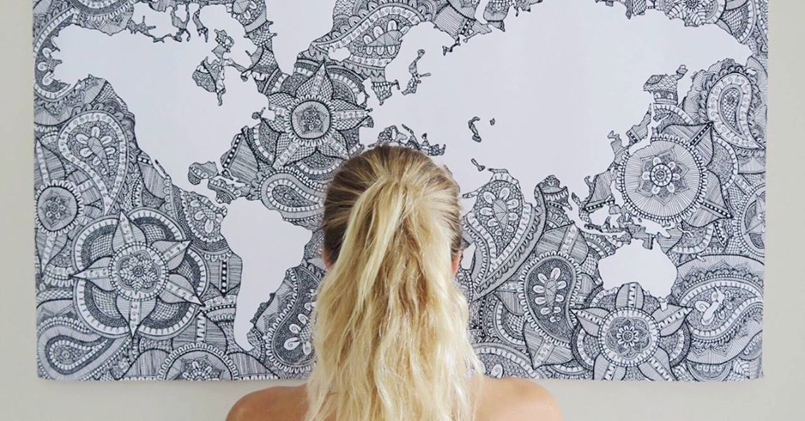gorgeous world map mandala by em carey watch or download