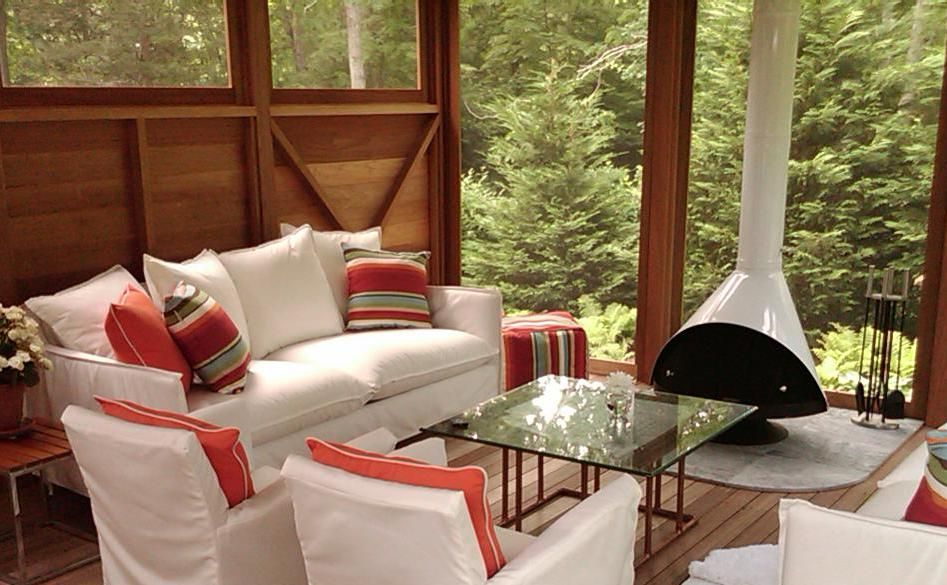 screen porches with malm fireplaces - Google Search | Out Back ...