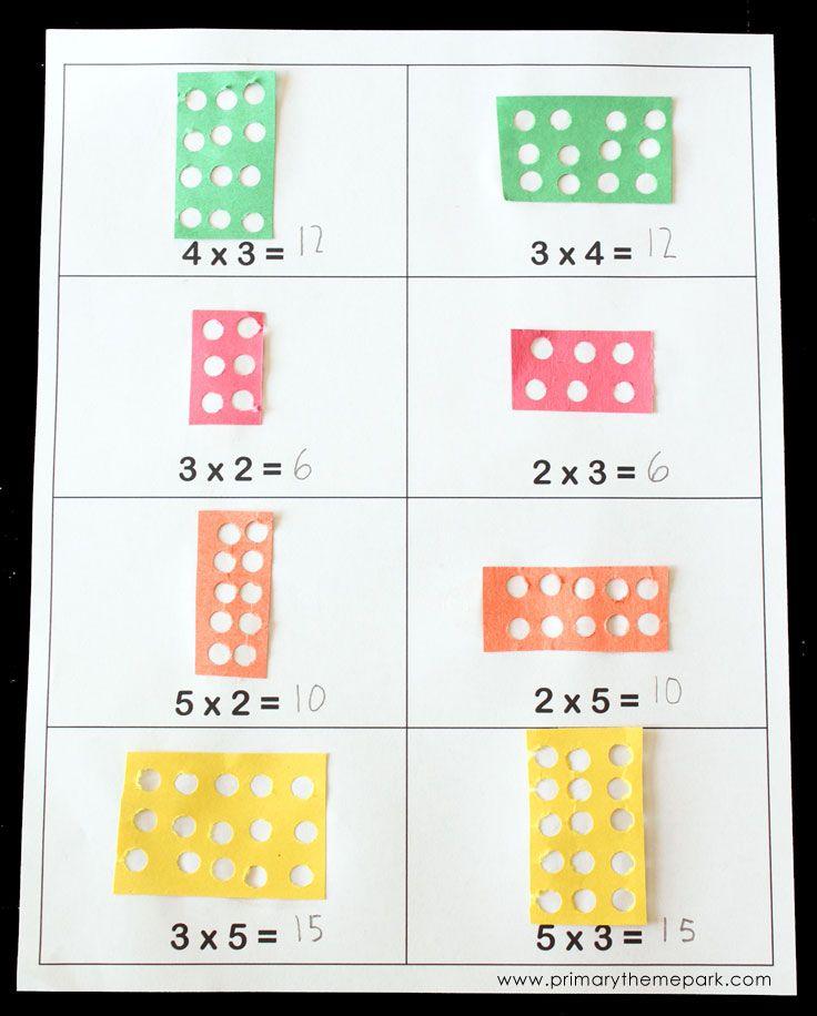 Learning Multiplication with Arrays | Perforadora, Multiplicación y ...