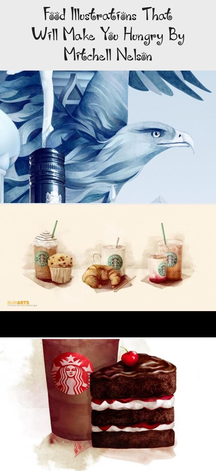 Food Illustrations That Will Make You Hungry By Mitchell Nelson #starbuckscake