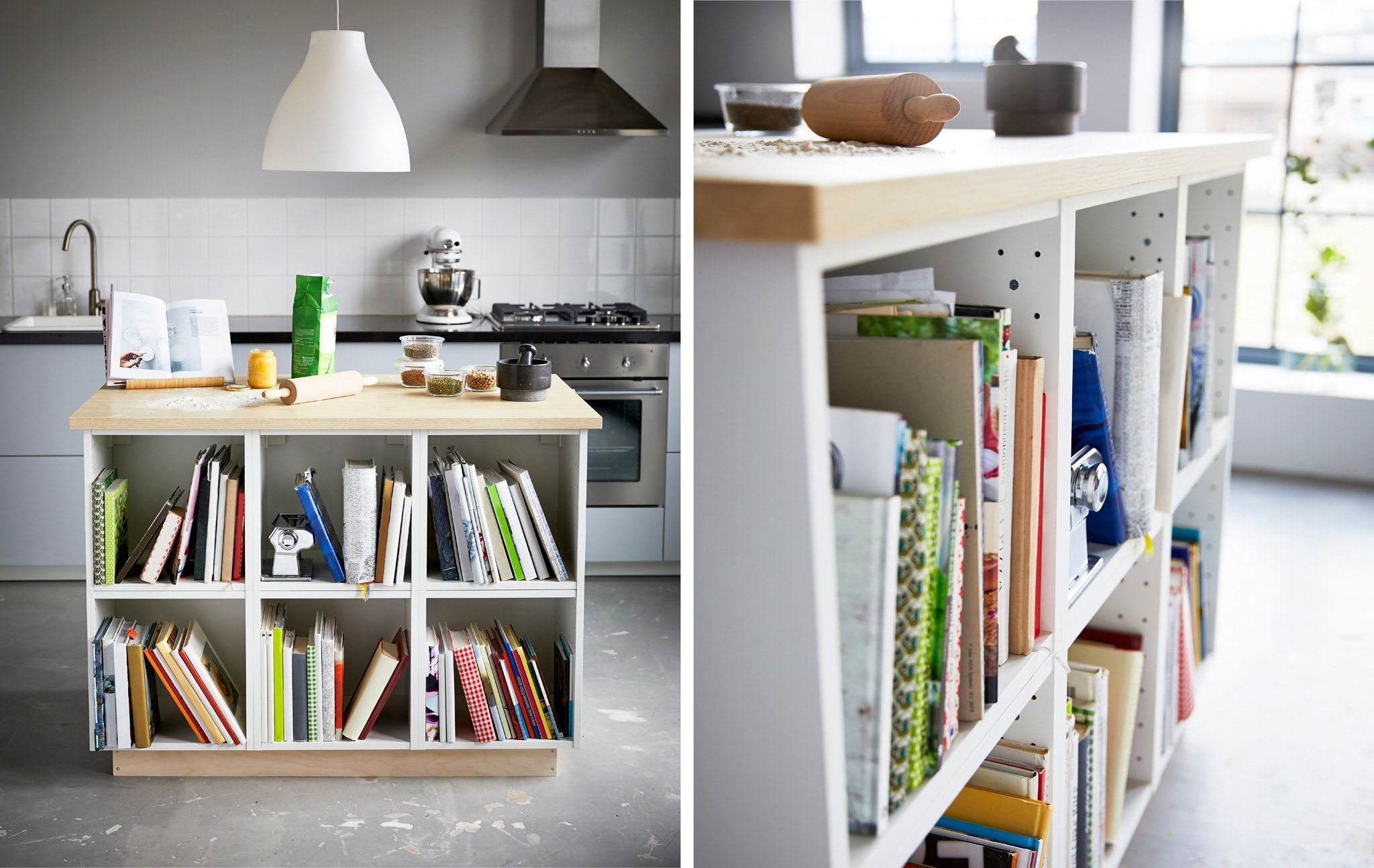 Make your own kitchen island with storage Ikea home