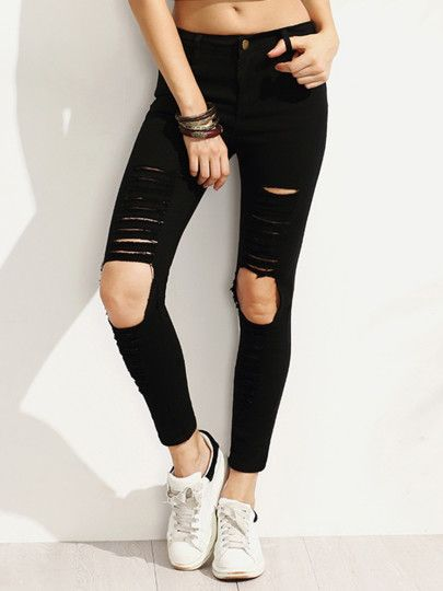 Denim Pants For Women Pantalones De Moda Ropa Pantalones Entubados Negros