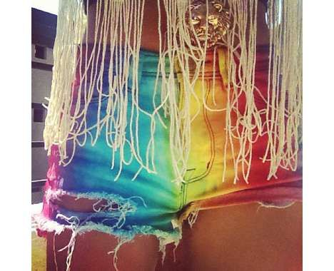 45 Ravishing Rainbow Apparel - From DIY Tie-Dye Booty Shorts to Oversized Psychedelic Knitwear