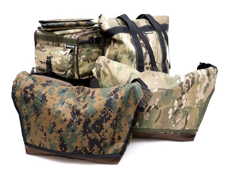Zugster Custom Hand Made Messenger Bags: Zugster Bags: New Stock Camo Collection