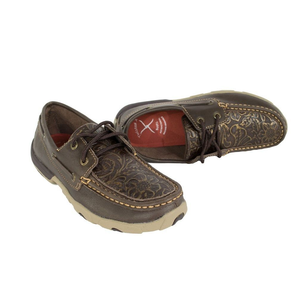 Twisted X Women's Tooled Leather Driving Moc [WDM0070