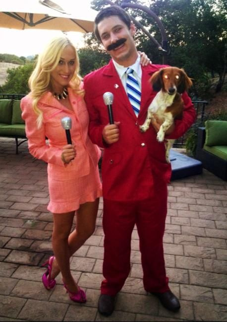 scary halloween anchorman movie themed couple costumes