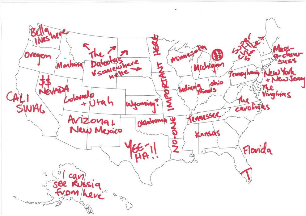 This Person Got The Edges Rightish BuzzFeed Laugh Laugh And - Map of the us with labels